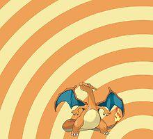 Pokemon - Charizard Circles iPad Case by Aaron Campbell