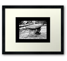 Old Bench Behind Grist Mill - Stony Brook, New York Framed Print