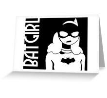 Bat Gurl Greeting Card