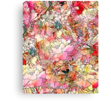 Colorful Watercolor Floral Pattern Abstract Sketch Canvas Print