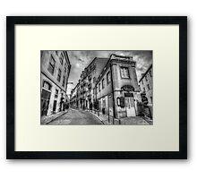 Backstreets Of Lisbon BW Framed Print