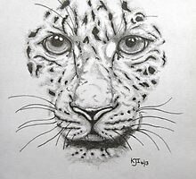 Leopard face by KarenJI1962