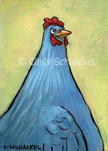 Blue Chicken by © Cindy Schnackel