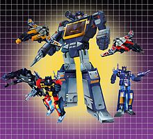 Masterpiece Soundwave and Cassettes by Draconis130