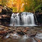 Autumn At Wyandot Falls, From The Waters Of Kitchen Creek by Gene Walls