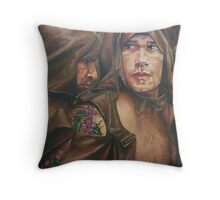 Allegory of the cave  acrylic on canvas Throw Pillow