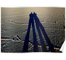~bonneville salt flats~father & son~tall shadow~ Poster