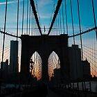 Brooklyn Bridge Silhouette by marty1468