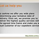 Css4me executes its Services on Time-to-delivery.  by jennybrighton32