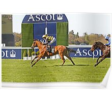 Fencing (USA) Winning At Ascot  Poster