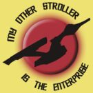 My Other Stroller is the Enterprise onesie (pastel colors) by Samuel Sheats