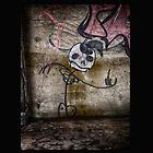 Graffiti Dancing Skeleton by Dan  Wampler