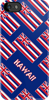 Iphone Case - State Flag of Hawaii  - Blue Diagonal Named by Mark Podger