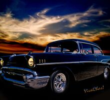 57 Belair Two-Door Sedan is Oh So Black by ChasSinklier