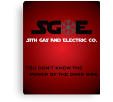 Sith Gas And Electric Co. Canvas Print