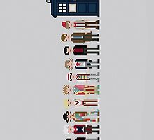 Doctors 1-11 iPhone Case by sonicsandwands