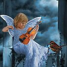  SWEET MUSIC ANGEL WITH A BIRDS EYE VIEW  by  Bonita Lalonde