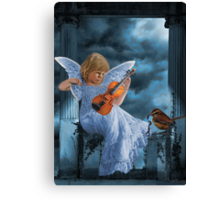 ❤ 。◕‿◕。SWEET MUSIC ANGEL WITH A BIRDS EYE VIEW❤ 。◕‿◕。 Canvas Print