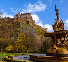 Ross Fountain in front of Edinburgh Castle by Graeme Ross