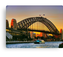 Sydney Harbour Bridge at Dusk Canvas Print