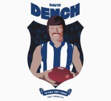 David Dench - North Melbourne (white shirt) by Chris Rees