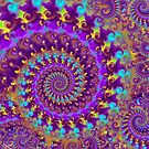 Crazy Psychedelic Fractal in Purple by printsbypixie