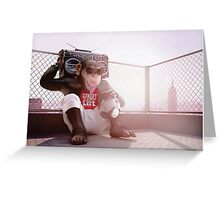 Monkey Beat Greeting Card