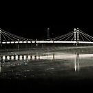 Albert Bridge Reflection  London by Suzanne Christian