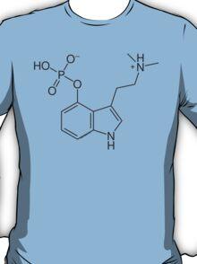 Psilocybin molecule shirt (dark on light) T-Shirt