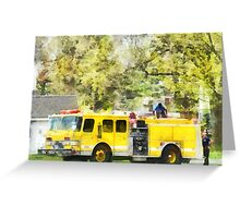 Back at the Firehouse Greeting Card