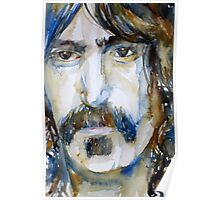 FRANK ZAPPA  watercolor portrait.3 Poster