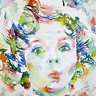 SHIRLEY TEMPLE - watercolor portrait.2 by lautir