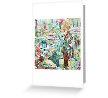 THE BEATLES rooftop CONCERT - watercolor portrait Greeting Card