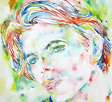 DAVID BOWIE - watercolor portrait.1 by lautir