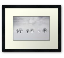 Three degrees of separation Framed Print