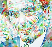 ALDOUS HUXLEY - watercolor portrait by lautir
