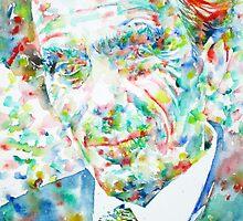 ALDOUS HUXLEY - watercolor portrait by lautir