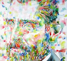 VAN GOGH - watercolor portrait by lautir