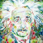 ALBERT EINSTEIN - watercolor portrait by lautir