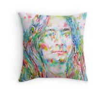 YOGANANDA - watercolor portrait Throw Pillow