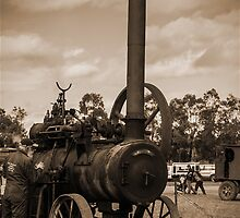 Steam Engine 2 - Sepia by Deborah McGrath