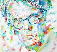 W. B. YEATS - watercolor portrait by lautir