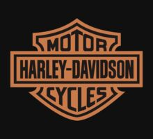 Harley Davidson Design - Black/Orange by Sookiesooker
