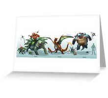 Venusaur-Charizard-Blastoise Greeting Card