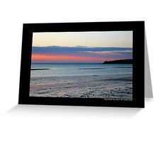 Pink Evening At West Meadow Beach - Stony Brook, New York  Greeting Card
