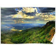 Sunset With Monsoon Rainstorm Poster