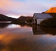 Boat Shed Sunrise by Nick Skinner