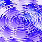 purple-blue ripples - by Tessa by Janine Paris