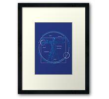 Vitruvian Playboy Framed Print