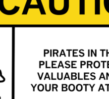Pirates caution 2 Sticker